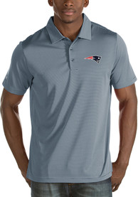 New England Patriots Antigua Quest Polo Shirt - Grey