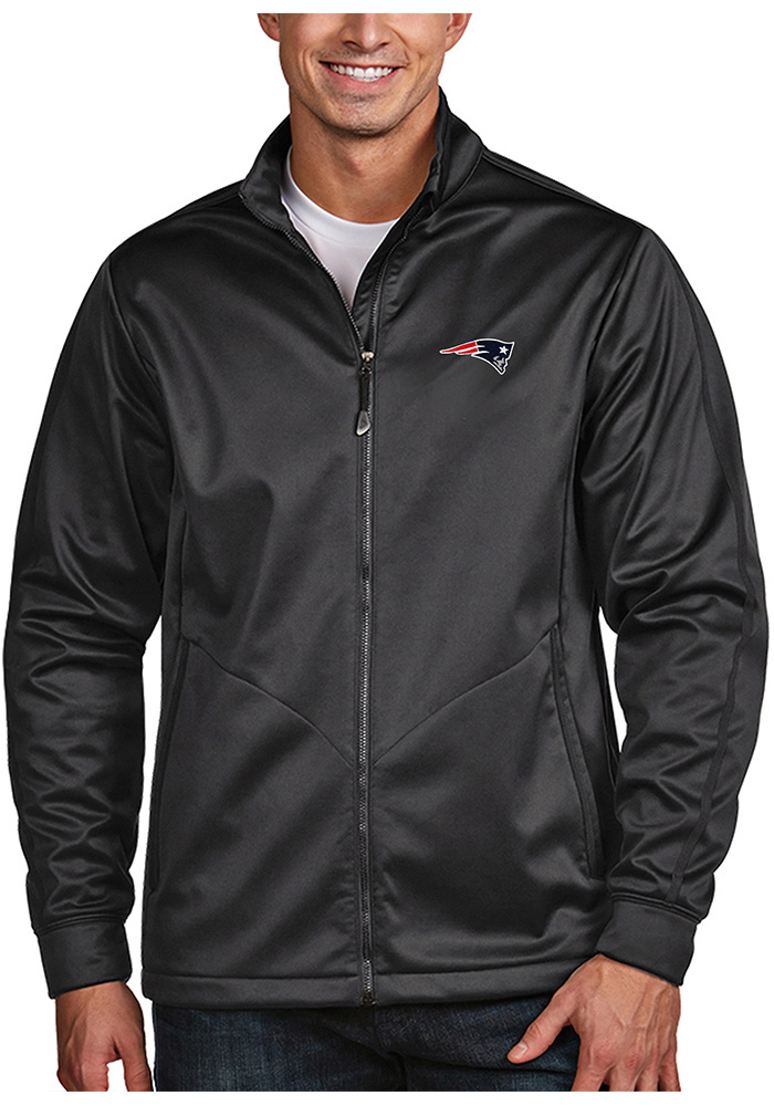 New England Patriots Mens Grey Golf Medium Weight Jacket - Image 1