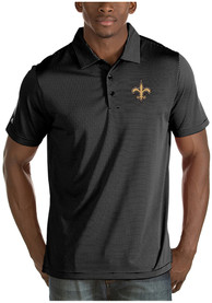 New Orleans Saints Antigua Quest Polo Shirt - Black