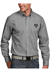 Las Vegas Raiders Antigua Associate Dress Shirt - Black