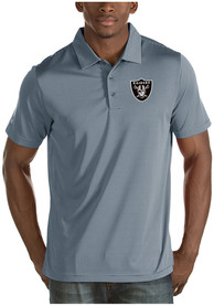 Las Vegas Raiders Antigua Quest Polo Shirt - Grey