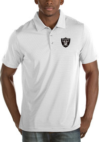Las Vegas Raiders Antigua Quest Polo Shirt - White