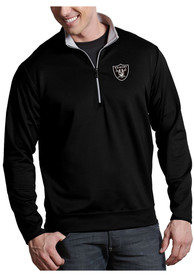 Las Vegas Raiders Antigua Leader 1/4 Zip Pullover - Black