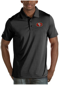 San Francisco 49ers Antigua Quest Polo Shirt - Black