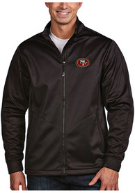 San Francisco 49ers Antigua Golf Light Weight Jacket - Black