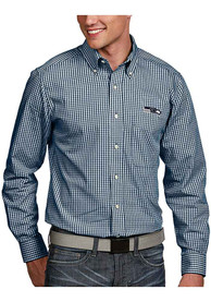 Seattle Seahawks Antigua Associate Dress Shirt - Blue