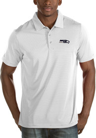 Seattle Seahawks Antigua Quest Polo Shirt - White