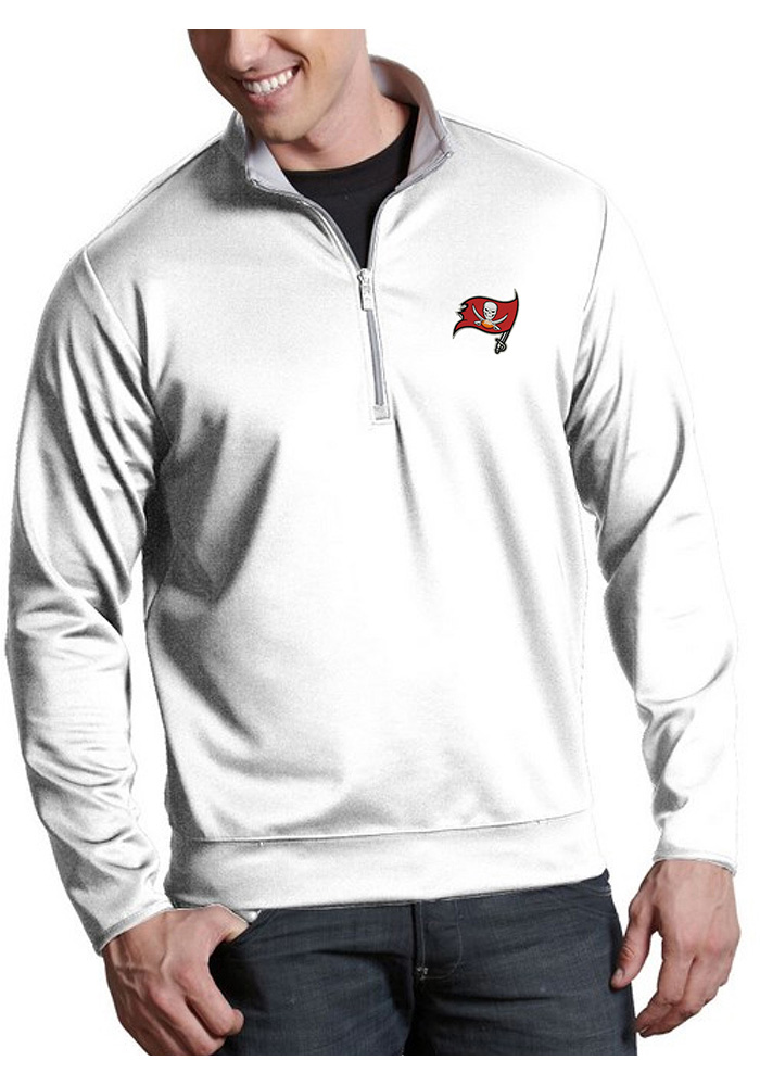 Antigua Tampa Bay Buccaneers White Leader 1 4 Zip Pullover a1752157c