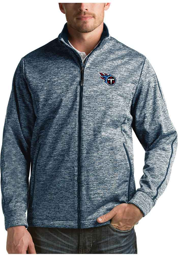 Antigua Tennessee Titans Mens Navy Blue Golf Light Weight Jacket - Image 1