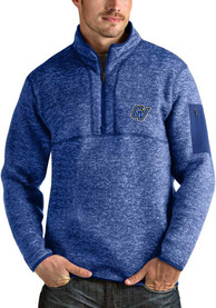 Grand Valley State Lakers Antigua Fortune 1/4 Zip Pullover - Black