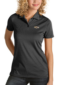 Baltimore Ravens Womens Antigua Quest Polo Shirt - Black