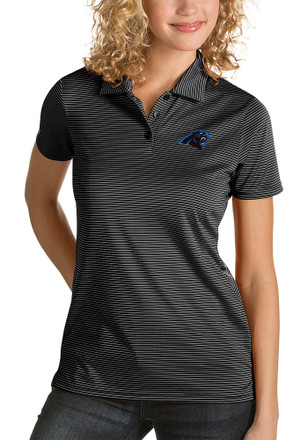 55322c5dc22 Antigua Carolina Panthers Womens Black Quest Polo