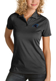 Carolina Panthers Womens Antigua Quest Polo Shirt - Black