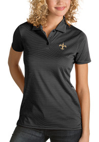New Orleans Saints Womens Antigua Quest Polo Shirt - Black