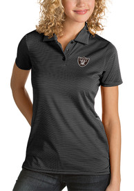 Las Vegas Raiders Womens Antigua Quest Polo Shirt - Black