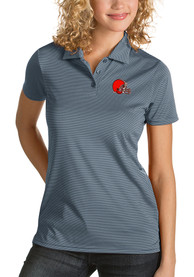 Cleveland Browns Womens Antigua Quest Polo Shirt - Grey