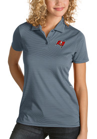 Tampa Bay Buccaneers Womens Antigua Quest Polo Shirt - Grey