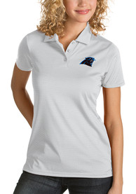 Carolina Panthers Womens Antigua Quest Polo Shirt - White