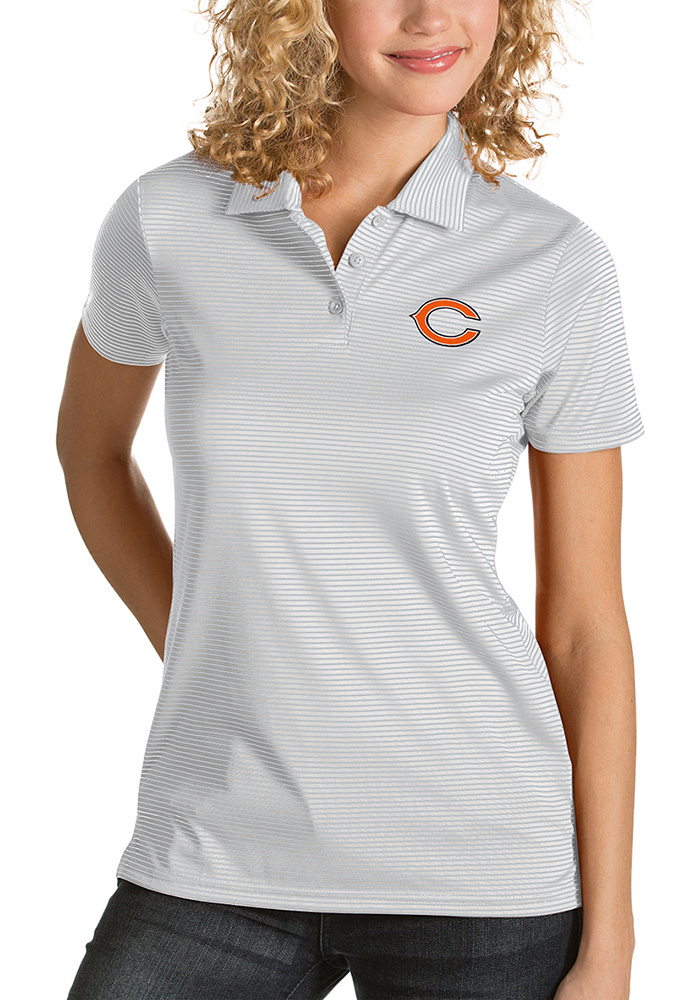 Chicago Bears Womens White Quest Short Sleeve Polo Shirt - Image 1