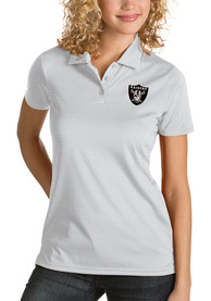 Las Vegas Raiders Womens Antigua Quest Polo Shirt - White