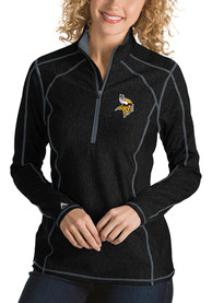 Minnesota Vikings Womens Antigua Tempo 1/4 Zip - Black