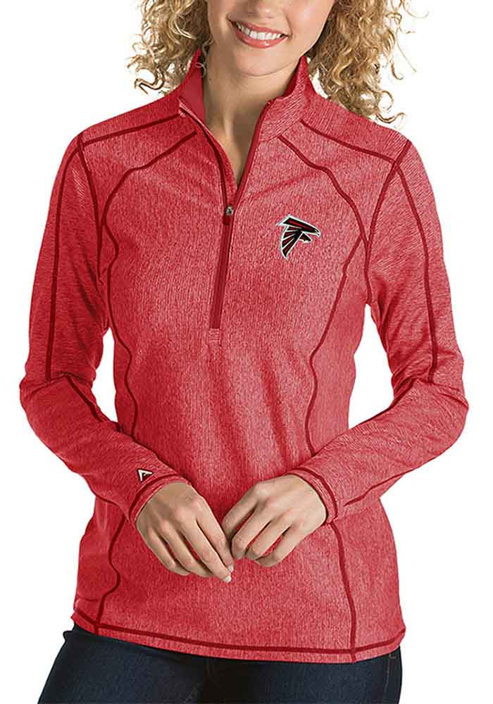Atlanta Womens Red Tempo 1/4 Zip Pullover - Image 1