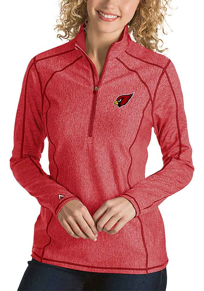 Arizona Womens Red Tempo 1/4 Zip Pullover - Image 1