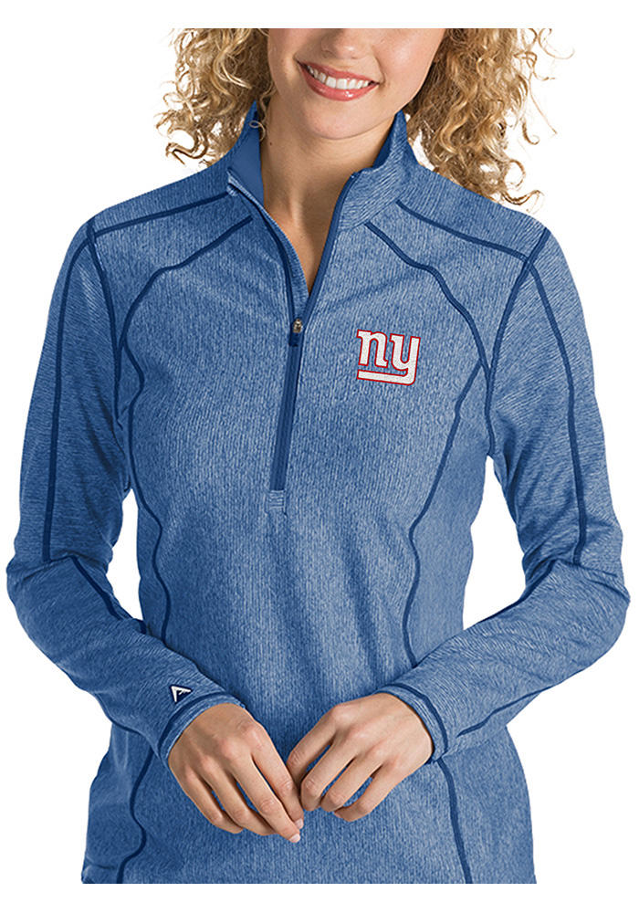 New York Womens Blue Tempo 1/4 Zip Pullover - Image 1