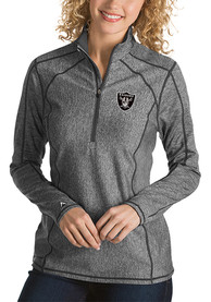 Las Vegas Raiders Womens Antigua Tempo 1/4 Zip - Grey