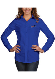 Buffalo Bills Womens Antigua Dynasty Dress Shirt - Blue