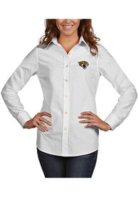 Antigua Jacksonville Jaguars Womens White Dynasty Dress Shirt
