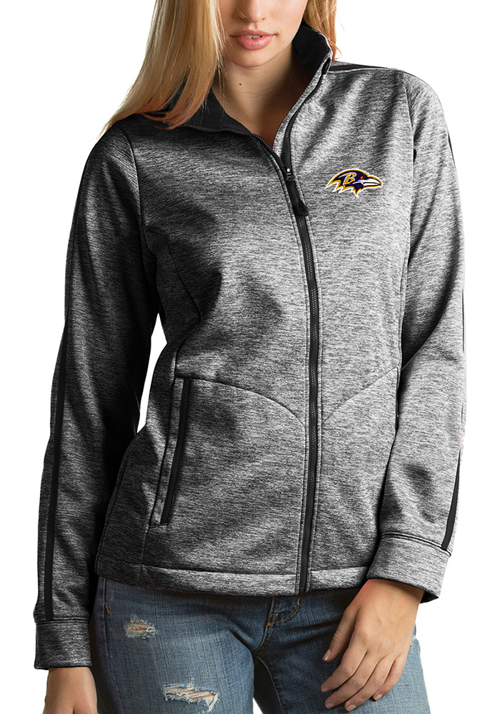 Antigua Baltimore Ravens Womens Black Golf Heavy Weight Jacket - Image 1