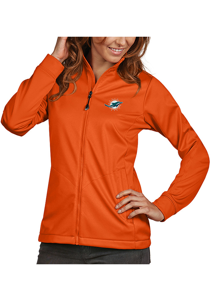 Antigua Miami Dolphins Womens Golf Orange Heavy Weight Jacket a379512dc