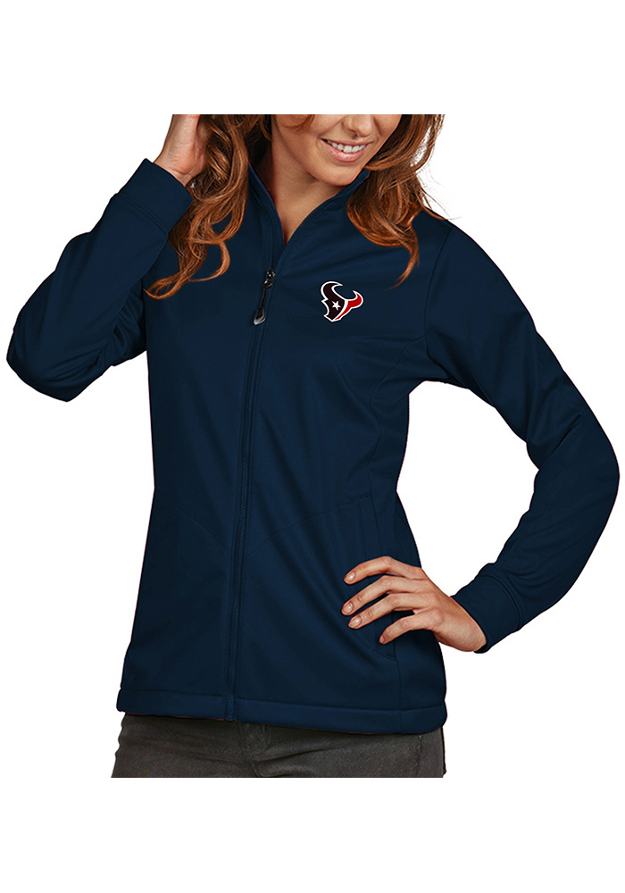 Antigua Houston Texans Womens Navy Blue Golf Heavy Weight Jacket - Image 1