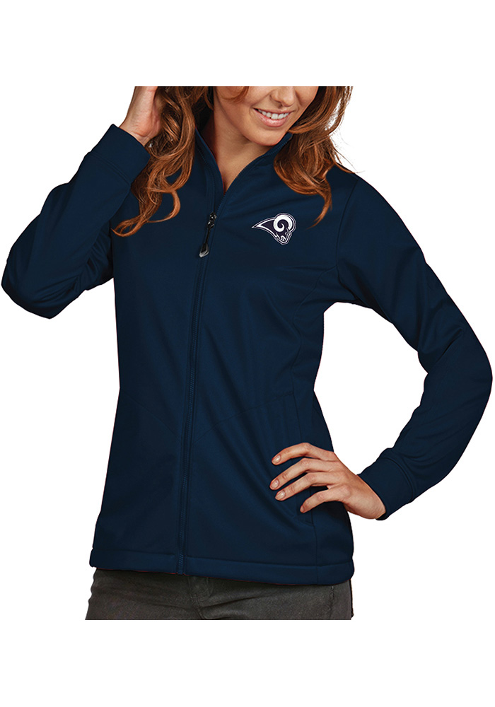 Antigua Los Angeles Rams Womens Navy Blue Golf Light Weight Jacket - Image 1