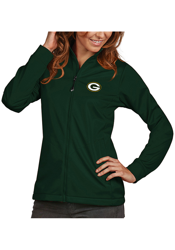 Antigua Green Bay Packers Womens Green Golf Heavy Weight Jacket - Image 1