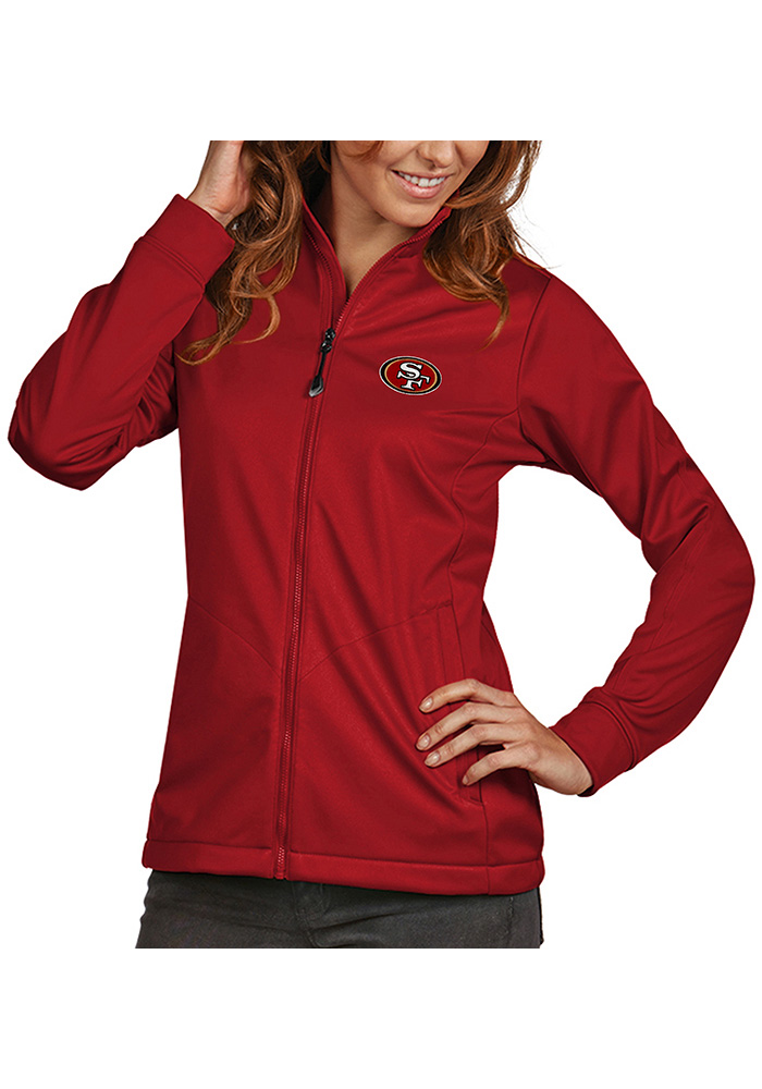 Antigua San Francisco 49ers Womens Red Golf Heavy Weight Jacket - Image 1