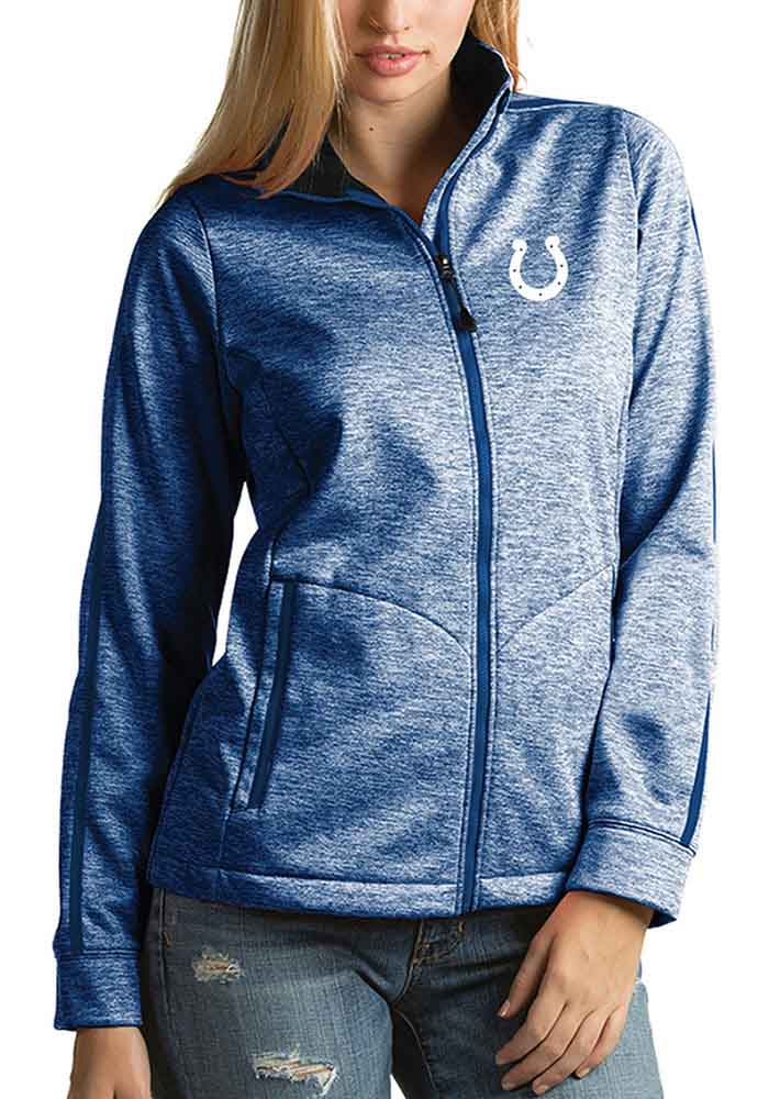 Antigua Indianapolis Colts Womens Blue Golf Heavy Weight Jacket - Image 1
