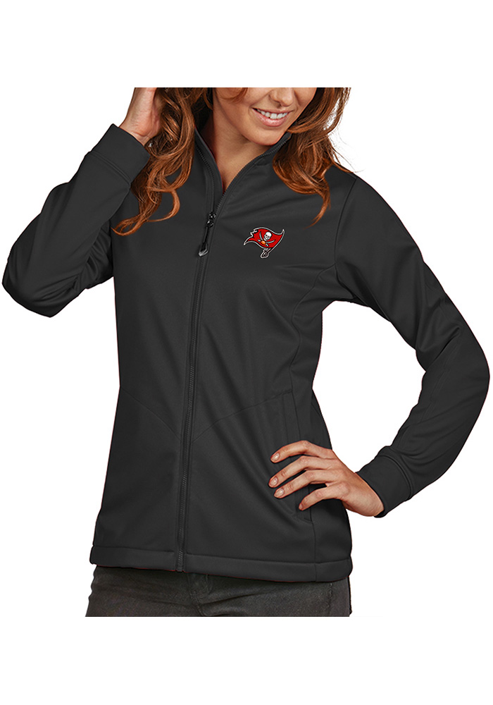 Antigua Tampa Bay Buccaneers Womens Grey Golf Heavy Weight Jacket - Image 1