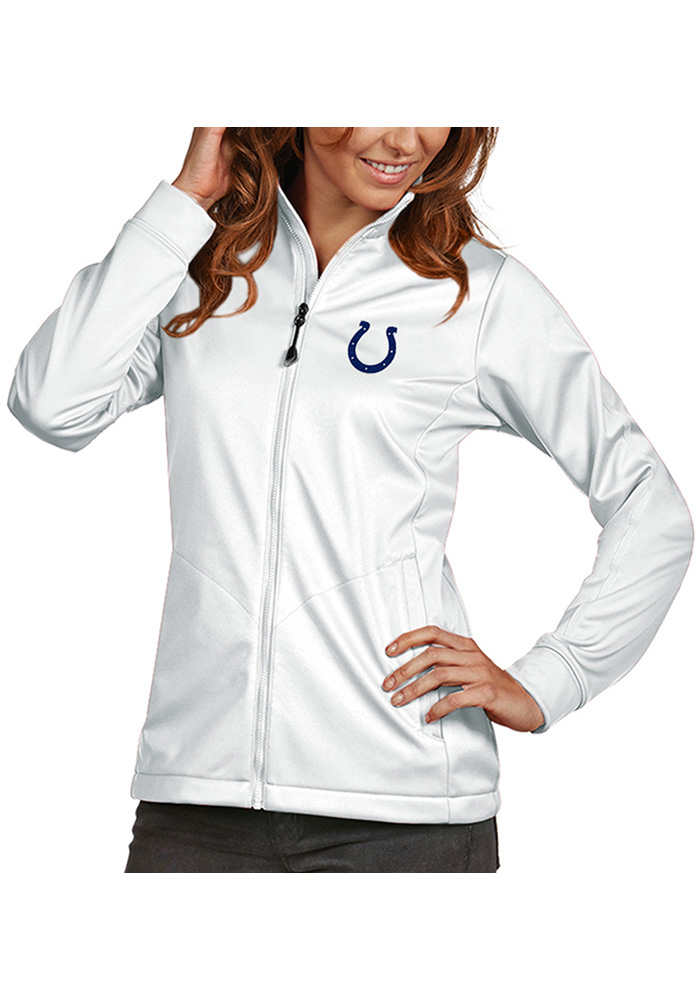 Antigua Indianapolis Colts Womens White Golf Heavy Weight Jacket - Image 1