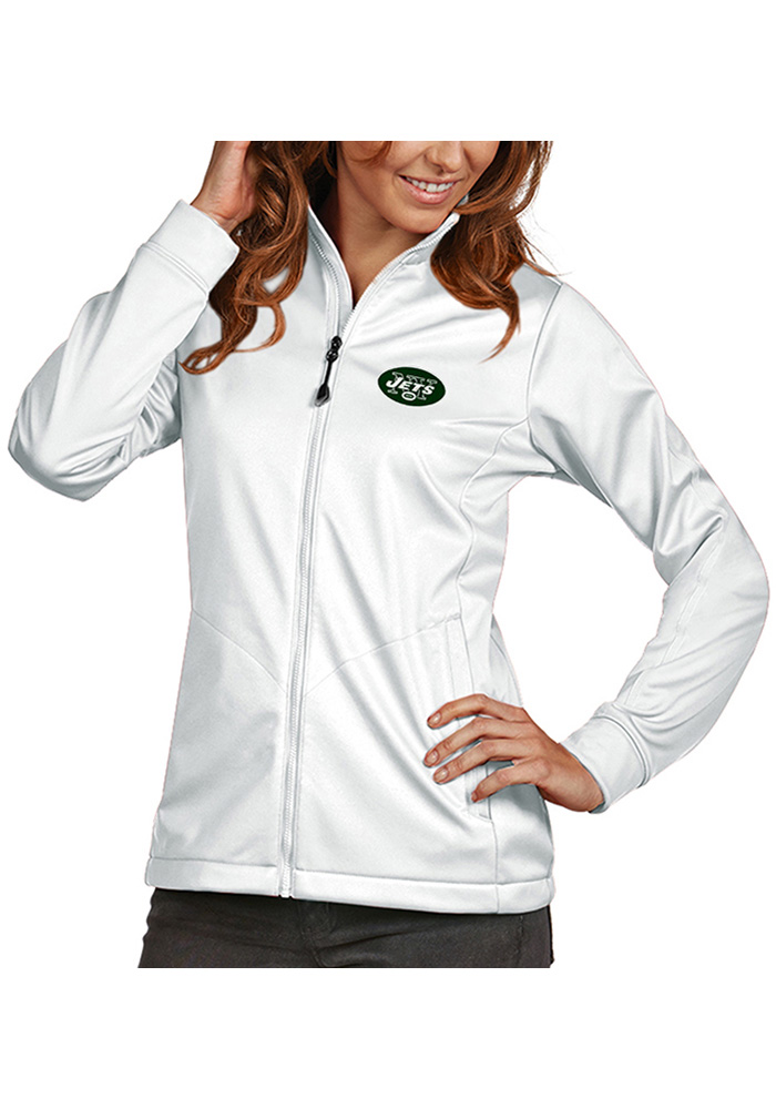 Antigua New York Jets Womens White Golf Heavy Weight Jacket - Image 1