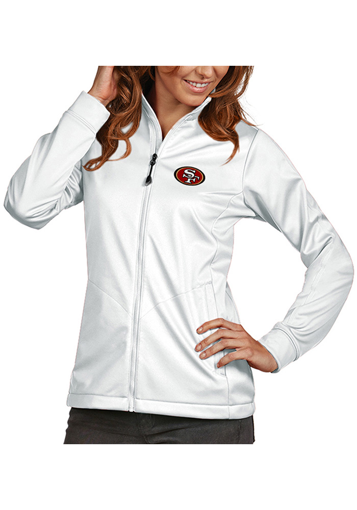 Antigua San Francisco 49ers Womens White Golf Heavy Weight Jacket - Image 1