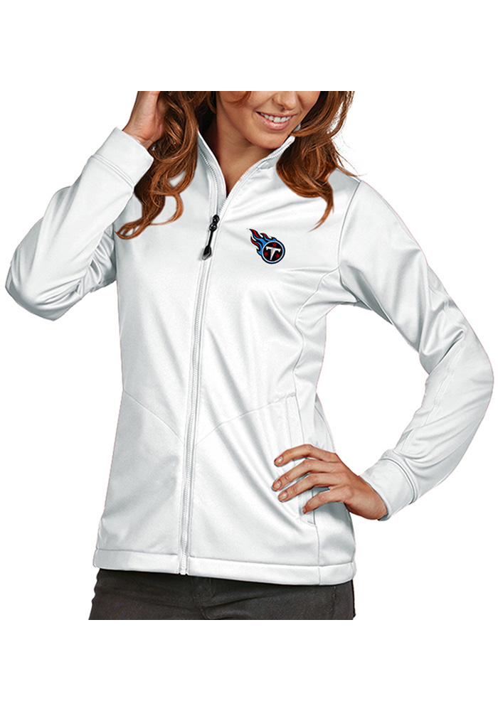 Antigua Tennessee Titans Womens White Golf Light Weight Jacket - Image 1