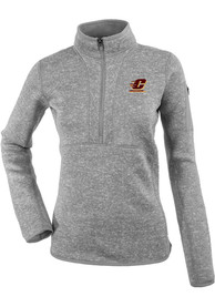 Central Michigan Chippewas Womens Antigua Fortune 1/4 Zip Pullover - Grey