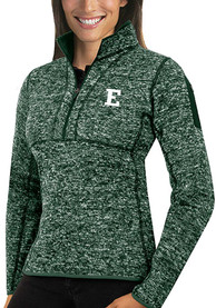 Eastern Michigan Eagles Womens Antigua Fortune 1/4 Zip Pullover - Green