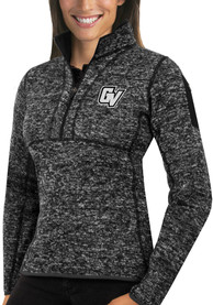 Antigua Grand Valley State Lakers Womens Fortune Black 1/4 Zip Pullover
