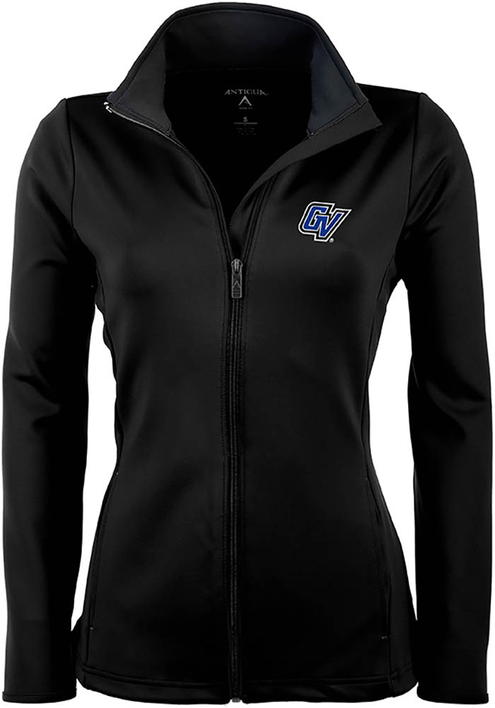 Antigua Grand Valley State Lakers Womens Black Leader Light Weight Jacket - Image 1