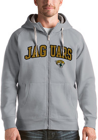 Jacksonville Jaguars Antigua Victory Full Zip Jacket - Grey