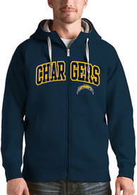 Los Angeles Chargers Antigua Victory Full Zip Jacket - Navy Blue