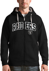 Las Vegas Raiders Antigua Victory Full Zip Jacket - Black